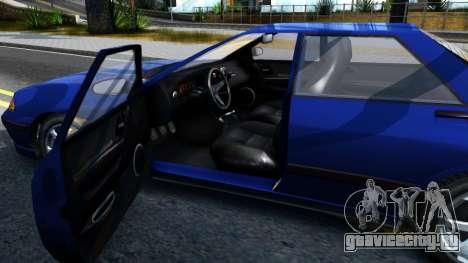 GTA V Zirconium Stratum Sedan для GTA San Andreas вид изнутри