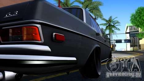Mercedes-Benz 300SEL 6.3 для GTA San Andreas вид изнутри