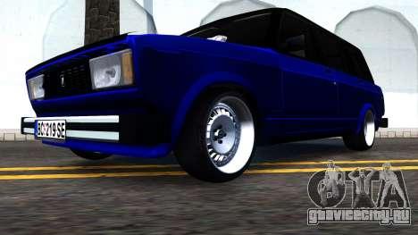 Lada 2104 S Kombi для GTA San Andreas вид сзади слева