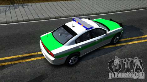Dodge Charger German Police 2013 для GTA San Andreas вид сзади