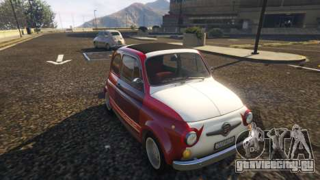 Fiat Abarth 595ss Racing ver для GTA 5 вид сзади