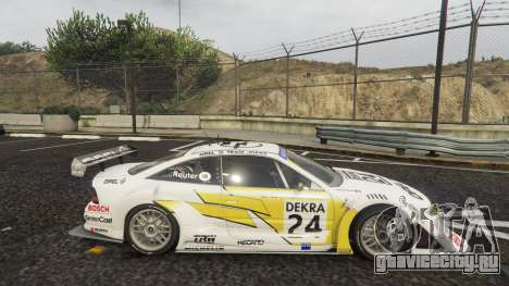 Opel Calibra DTM для GTA 5 вид слева