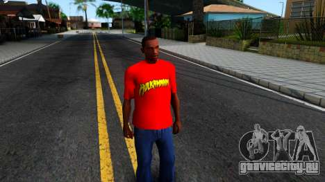 Hulk Hogan T-Shirt для GTA San Andreas второй скриншот