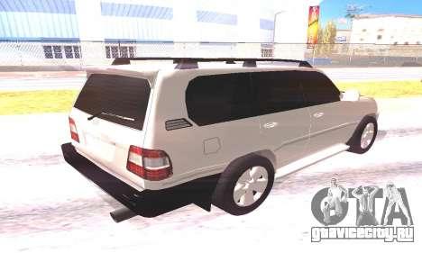 Toyota Land Cruiser 100 для GTA San Andreas вид справа