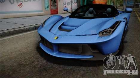 Ferrari LaFerrari Aperta 2017 для GTA San Andreas вид сбоку