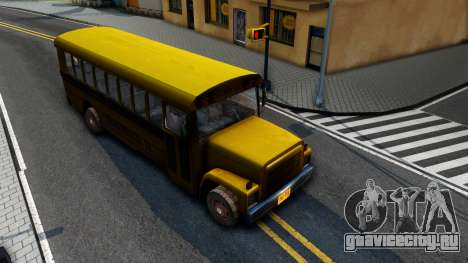 School Bus Driver Parallel Lines для GTA San Andreas вид справа