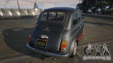 Fiat Abarth 595ss Street ver для GTA 5 вид сзади слева
