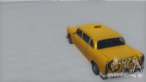 Cabbie Winter IVF для GTA San Andreas вид сзади слева