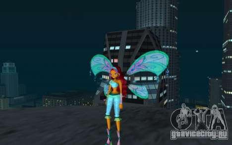 Aisha Believix from Winx Club Rockstars для GTA San Andreas второй скриншот