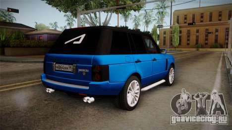 Range Rover 2008 для GTA San Andreas вид слева