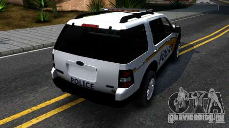 Ford Explorer Metro Police 2009 для GTA San Andreas вид сзади слева