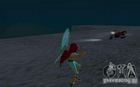 Aisha Believix from Winx Club Rockstars для GTA San Andreas четвёртый скриншот