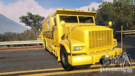 Carro Forte Prosegur Brasil для GTA 5 вид сзади