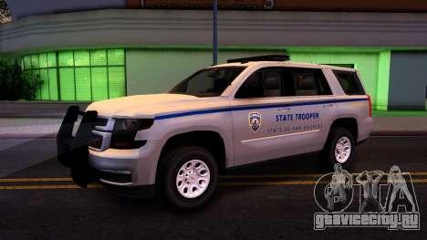 2015 Chevy Tahoe San Andreas State Trooper для GTA San Andreas вид сзади