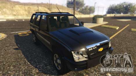 Chevrolet Blazer 4x4 для GTA 5 вид сзади