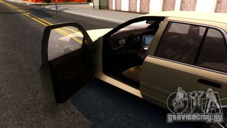 Ford Crown Victoria Unmarked 2009 для GTA San Andreas вид изнутри
