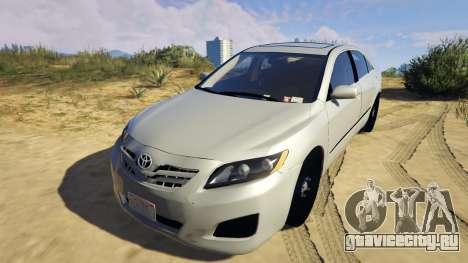 Toyota Camry 2011 DoN DoN Edition для GTA 5 вид сзади