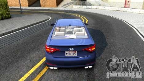 Hyundai Sonata 2016 для GTA San Andreas вид справа