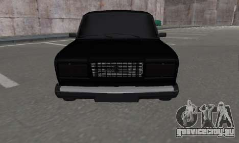 Ваз 2107 Блек Джек для GTA San Andreas вид сзади слева