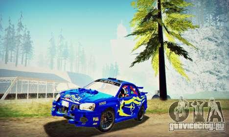 Subaru Impreza WRX STI WRC Rally 2005 для GTA San Andreas вид сбоку