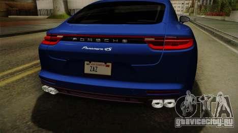 Porsche Panamera 4S 2017 v2.0 для GTA San Andreas вид сбоку