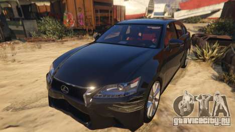 Lexus GS 350 для GTA 5 вид сзади