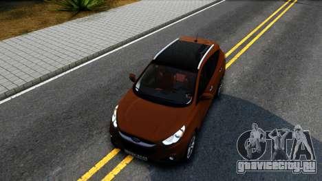 Hyundai ix35 Aze для GTA San Andreas вид изнутри