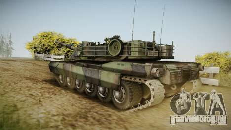 Abrams Tank Woolant Camo для GTA San Andreas вид слева