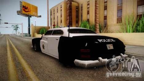 Hermes Classic Police Las Venturas для GTA San Andreas вид сзади слева