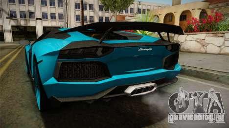 Lamborghini Aventador Itasha Rias Gremory для GTA San Andreas вид снизу
