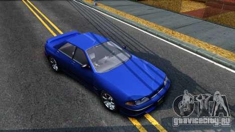 GTA V Zirconium Stratum Sedan для GTA San Andreas вид справа