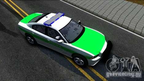 Dodge Charger German Police 2013 для GTA San Andreas вид справа
