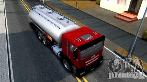 GTA V MTL Dune Oil Tanker для GTA San Andreas вид сзади