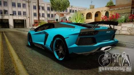 Lamborghini Aventador Itasha Rias Gremory для GTA San Andreas вид справа