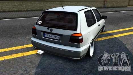 Volkswagen Golf 3 Low для GTA San Andreas вид справа