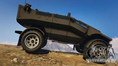 Punisher Unarmed Version для GTA 5 вид слева
