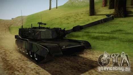 Abrams Tank Woolant Camo для GTA San Andreas вид справа