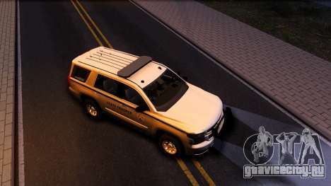 2015 Chevy Tahoe San Andreas State Trooper для GTA San Andreas вид снизу