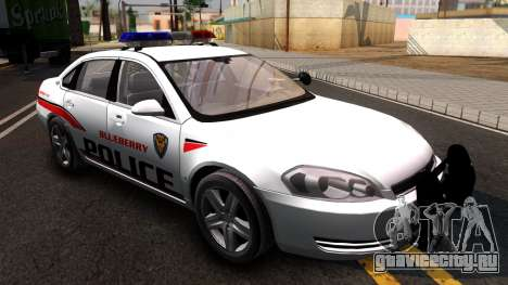 Chevy Impala Blueberry PD 2009 для GTA San Andreas вид справа