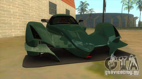 Praga R1 для GTA San Andreas вид сзади