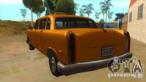 VC Cabbie Xbox для GTA San Andreas вид сзади слева