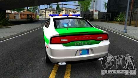 Dodge Charger German Police 2013 для GTA San Andreas вид сзади слева