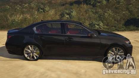 Lexus GS 350 для GTA 5 вид слева
