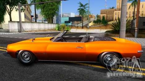 GTA V Declasse Vigero Retro Rim для GTA San Andreas вид слева