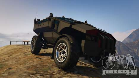 Punisher Unarmed Version для GTA 5 вид сзади