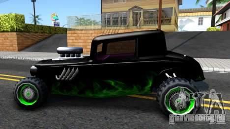 Green Flame Hotknife Race Car для GTA San Andreas вид слева