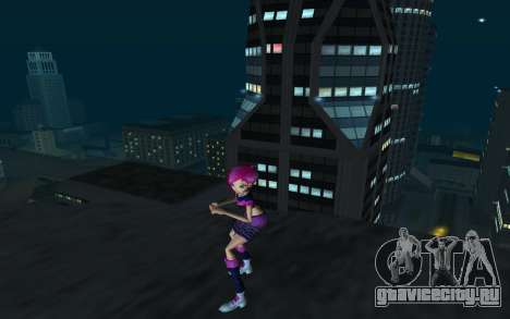 Tecna Rock Outfit from Winx Club Rockstars для GTA San Andreas