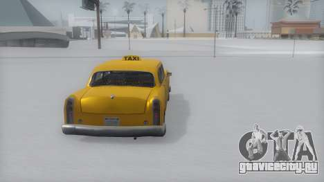 Cabbie Winter IVF для GTA San Andreas вид слева