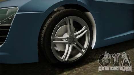 Audi R8 Coupe 4.2 FSI quattro EU-Spec 2008 YCH для GTA San Andreas вид сзади