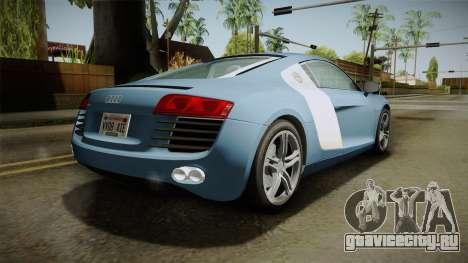 Audi R8 Coupe 4.2 FSI quattro EU-Spec 2008 YCH для GTA San Andreas вид слева
